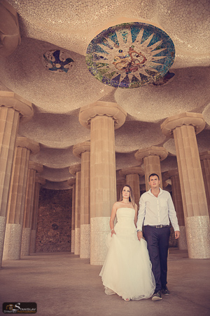Park Guell wedding photography Barcelona