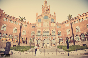 Sant Pau wedding photography Barcelona