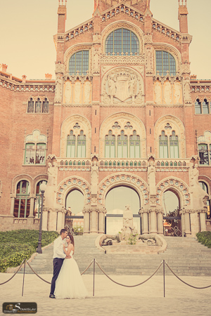 Sant Pau wedding pictures Barcelona