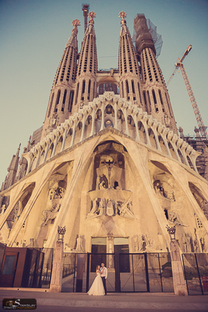 Sagrada Familia wedding Barcelona