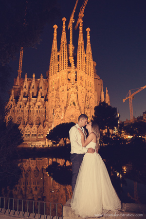 Sagrada Familia wedding photography Barcelona