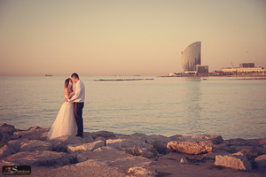 Pre wedding photo session in Barcelona