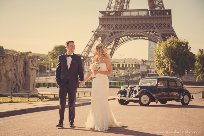 Wedding Photo Session in Paris Eiffel Tower