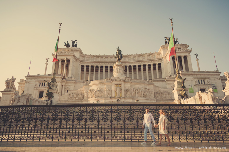 Photoshoot Monument of Victor Emmanuel II in Rome