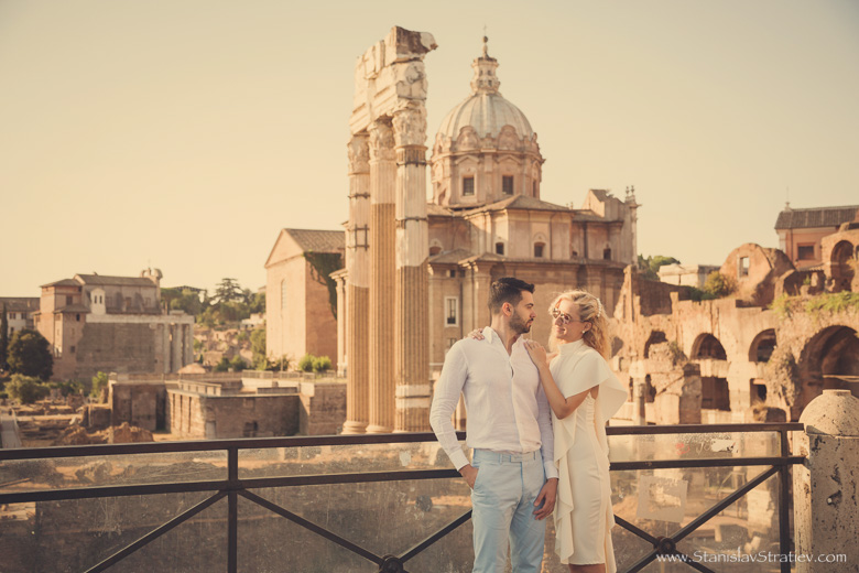 Engagement Photoshoot in Rome